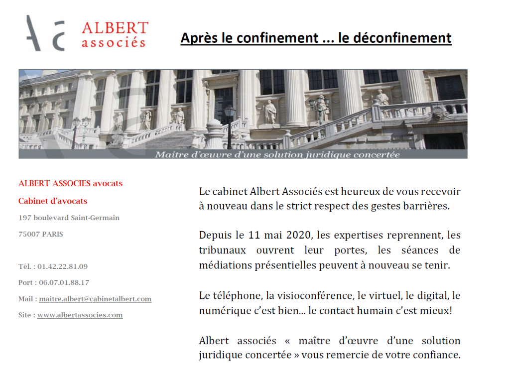 DECONFINEMENT ALBERT ASSOCIES